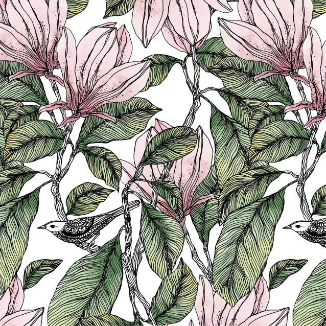Wallpaper MAGNOLIA by Hanna Karlzon for DesignM Collection.