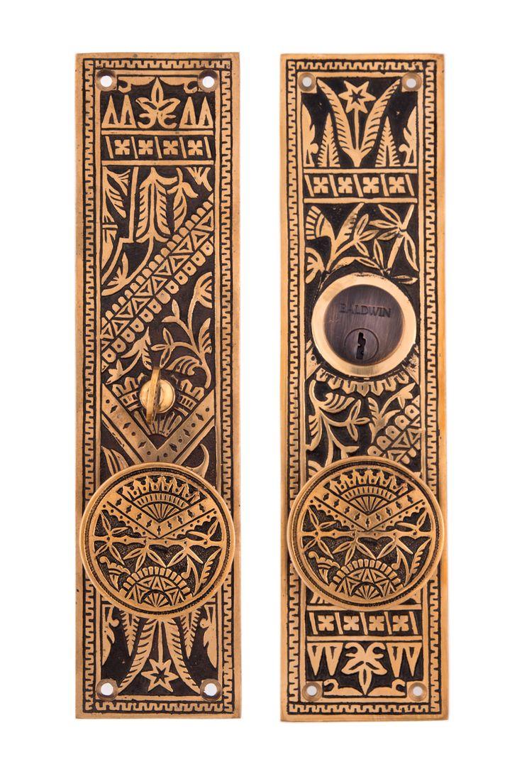 Oriental Entry Door Sets With Drum doorknobs #13XX.USXXX