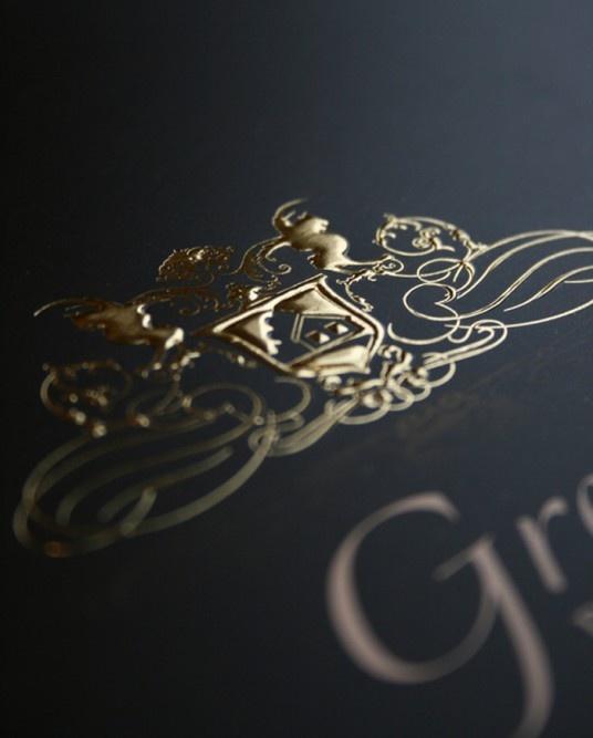 embossed gold gloss foil blocking