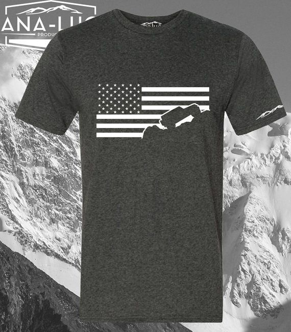 Jeep Wrangler Shirt USA American Flag by Analuo on Etsy