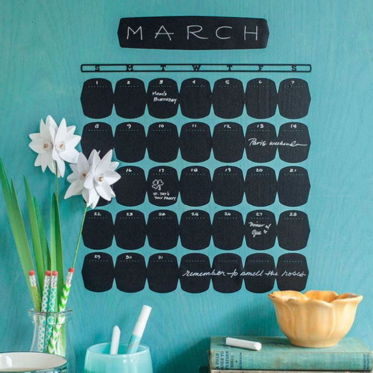 Stay organized with this cute, and easy to change Chalkboard Calendar designed by Lia Griffith. Use your Cricut Explore Air™ and Cricut® Chalkboard Vinyl to make it easy!