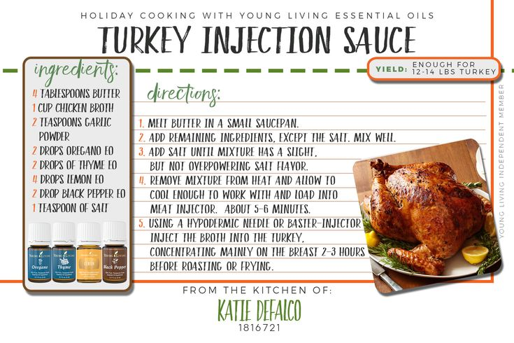 For a flavorFULL turkey try out this recipe using Young Living's Oregano, Thyme, Lemon, and Black Pepper essential oil. For more oil info, ideas, or to purchase Young Living essential oils visit me at www.essentialoilsobsessed.com
