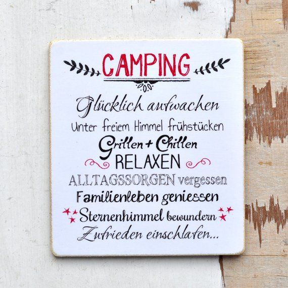 CAMPING sign for real campers