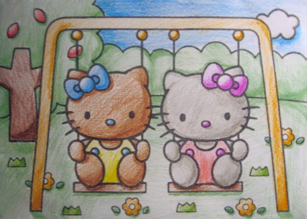 Hello Kitty Hawaiian Coloring Pages : 236 best hello kitty brown ; images on pinterest hello kitty