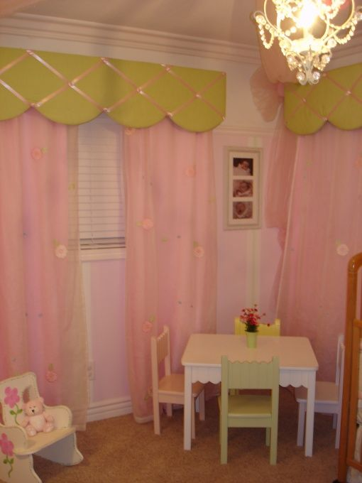 Little girl room window treatments kid s room for Kid curtains window treatments