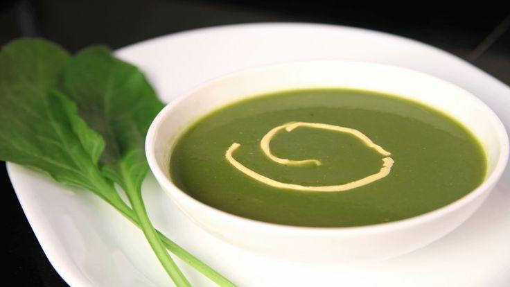 Palak Soup (Spinach Soup) By Archana