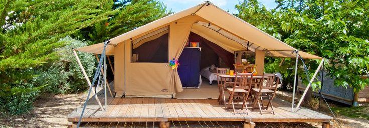 Location tente camping à Noirmoutier : le Trappeur   Domaine Le Midi
