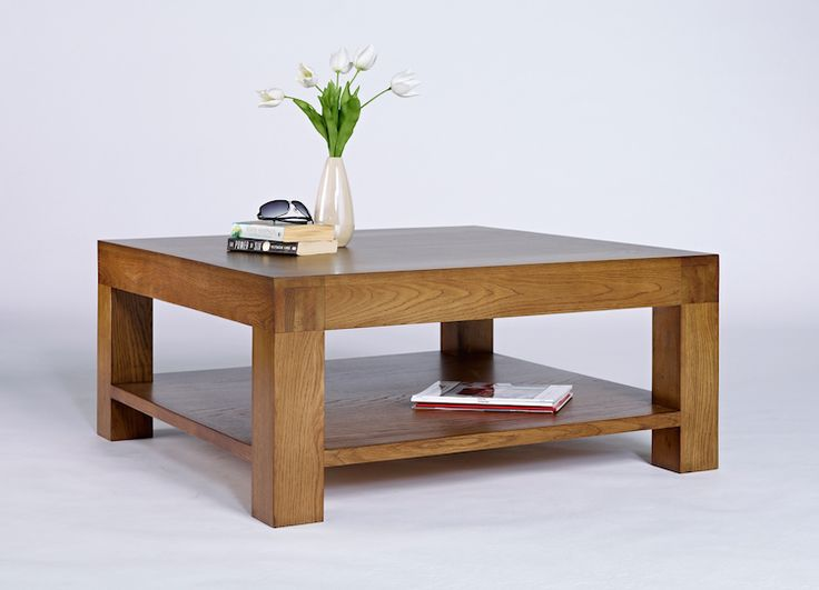 Living rooms can be transformed with a good coffee table. This excellent oak coffee table from Good Home Online is a great example.