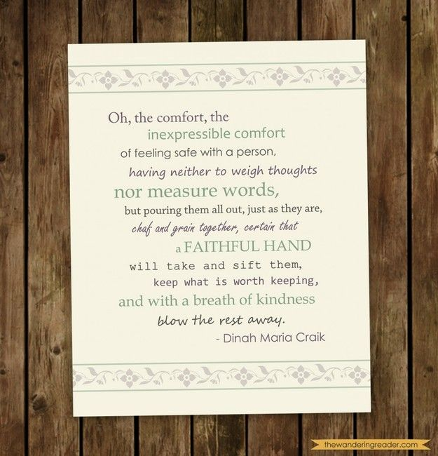 "dinah+maria+mulock+craik+friendship | ... comfort... "" Inspirational Friendship Quotation by Dinah Maria Craik"