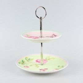 Villeroy Boch Rose Cottage 2-tiered cake stand miini Tray