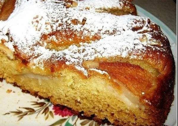 Вкуснейший грушевый пирог к вечернему чаю