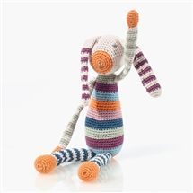 Organic Baby Toy - Hand Knit Bunny Rattle   #children #fun #toys