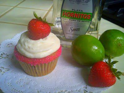 Strawberry Margarita Cupcakes: Cupcake Recipes, Adult Cupcake, Food, Bake, Strawberries, Booze, Cupcakes Recipe, Strawberry Margarita Cupcakes, Margaritas