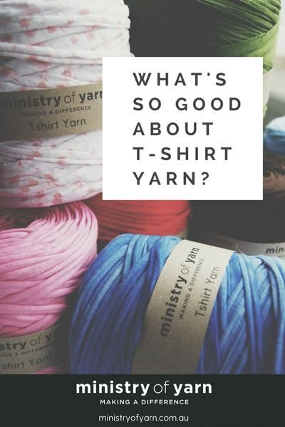 Did you know that t-shirt yarn is recycled from the offcuts of the t-shirt manufacturing industry?  So every ball is saving beautiful yarn from ending up in landfill!   Ministry of Yarn T-shirt Yarn Australia