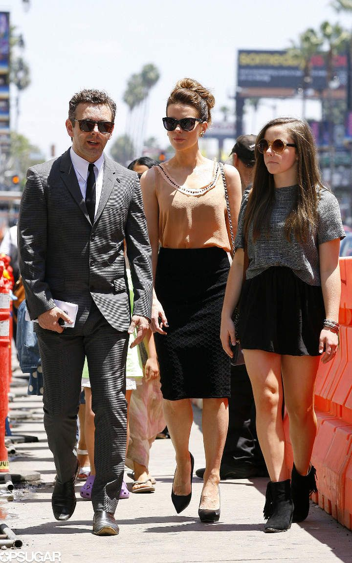 Kate Beckinsale watched the Beatles tribute show with her daughter, Lily Mo Sheen, and her ex, Michael Sheen, in LA on Sunday.