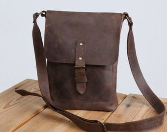 Leather bag men Desing Ludena. Leather handbag and by Ludena