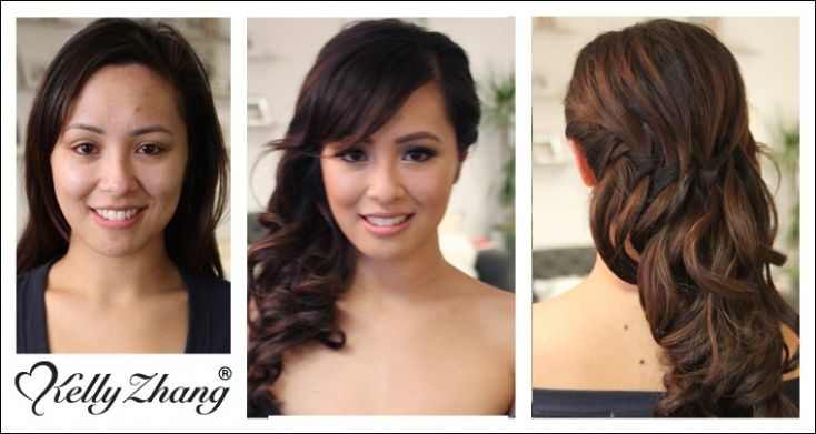 { Before & After } Hair is an amazing interpretation of down and pinned to side.