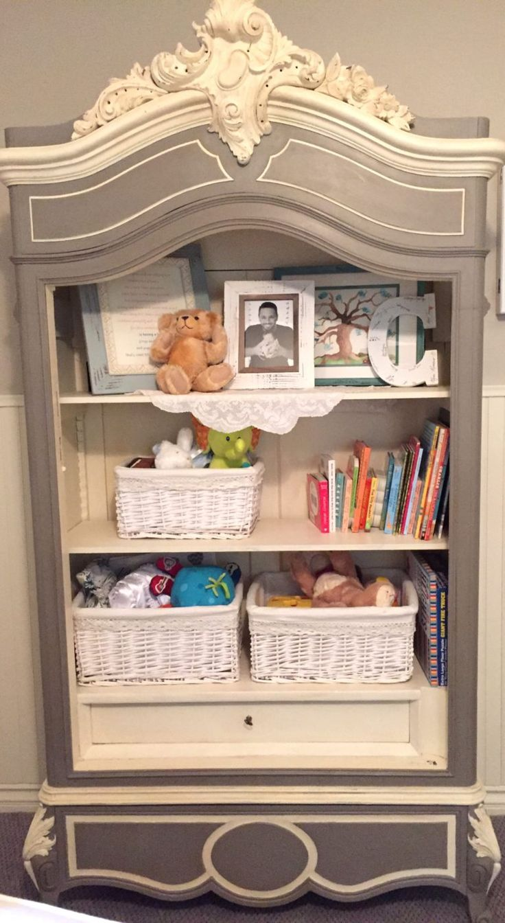 Charlie's French Country Nursery - This bookcase is gorgeous AND functional!