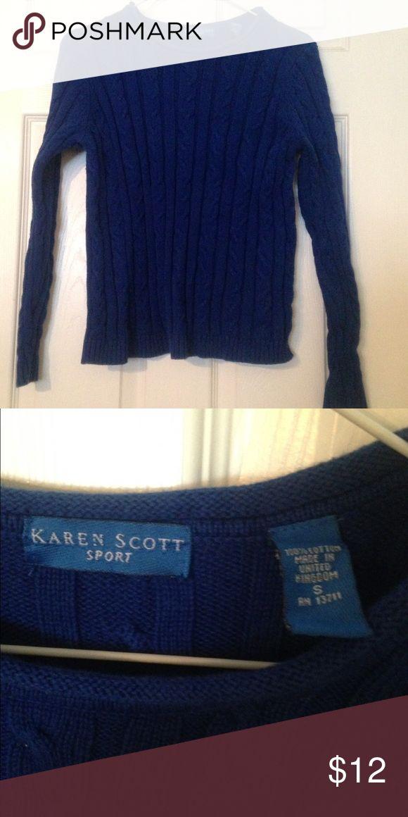 Karen Scott Sport Blue Sweater Royal Blue Sweater by Karen Scott. Size S. Karen Scott Sweaters Crew & Scoop Necks