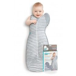 Love To Swaddle Up 50/50 Grey Med