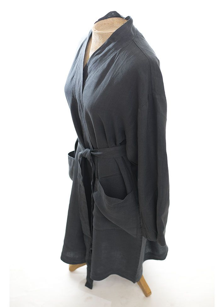 #LinenWay #Bathrobe #Linen Bathrobe #Soft Bathrobe #belted bathrobe #Linen