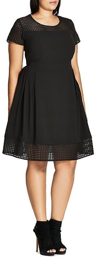 Plus Size Texture Dress
