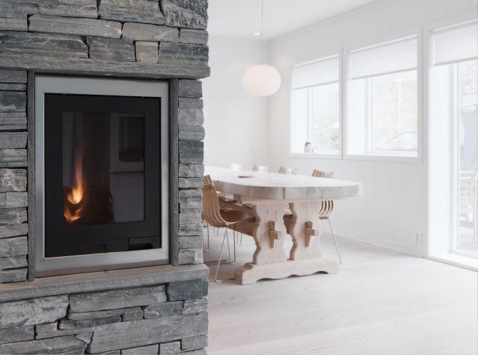 Die besten 25+ Schiefer Kamin Ideen auf Pinterest Schiefer Kamin - schiefer wandverkleidung wohnzimmer