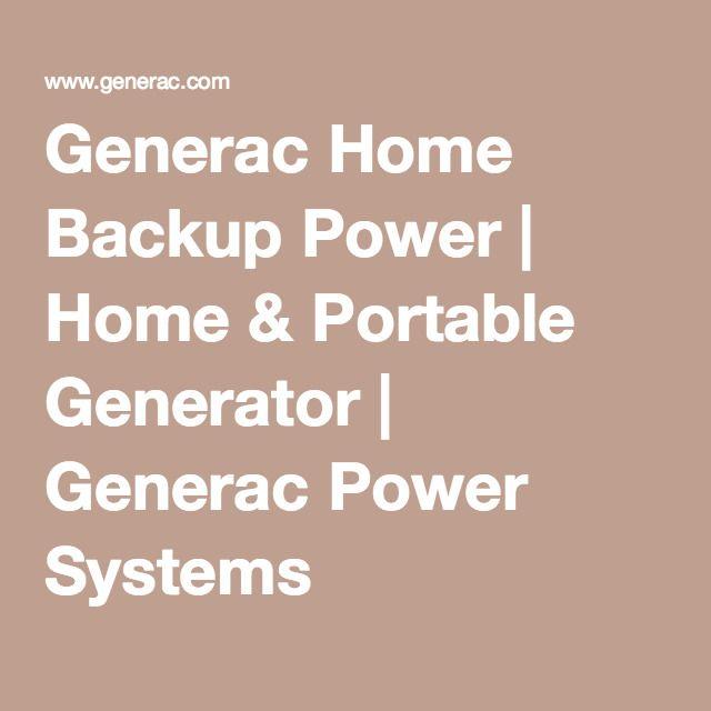 Generac Home Backup Power | Home & Portable Generator | Generac Power Systems