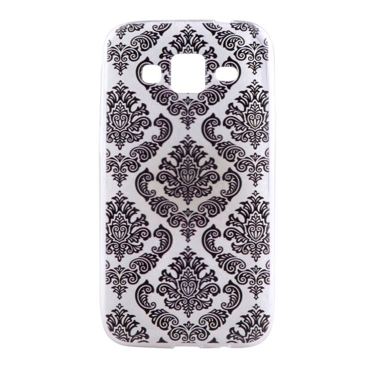 Slim Silicone Soft Phone Covers Vintage Lace Floral TPU Gel Back Case Skin for Samsung Galaxy Core Prime G360 G360F G360H G361F