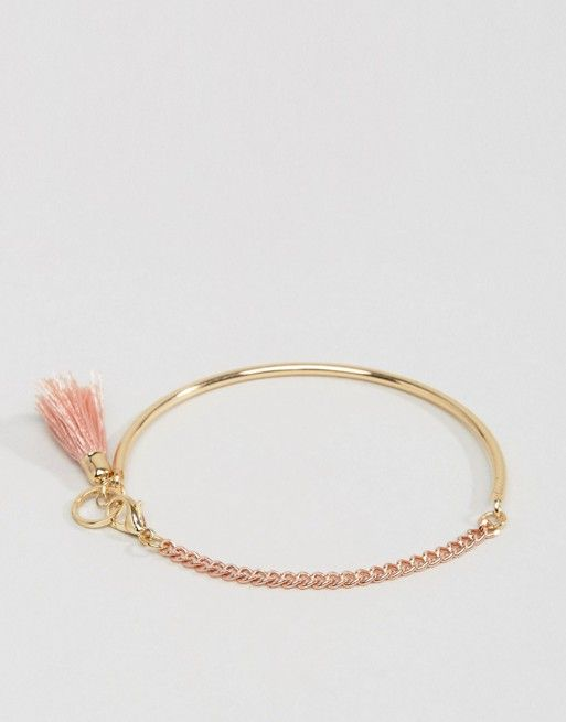 ASOS Half Circle Bar and Tassel Bracelet