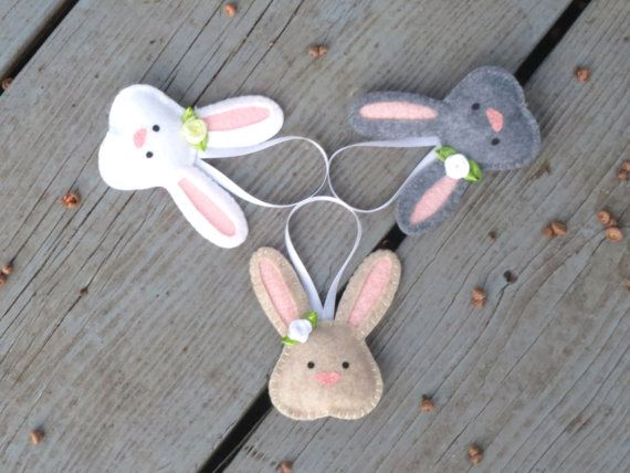 Felt Bunny Rabbit Ornament