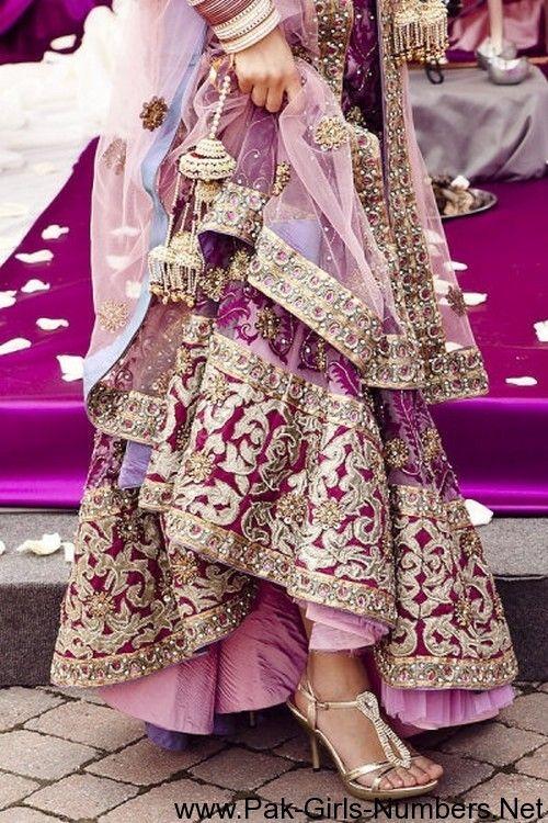 Latest Bridal Designer Lehengas Pakistani | Pakistani Girls Mobile Numbers