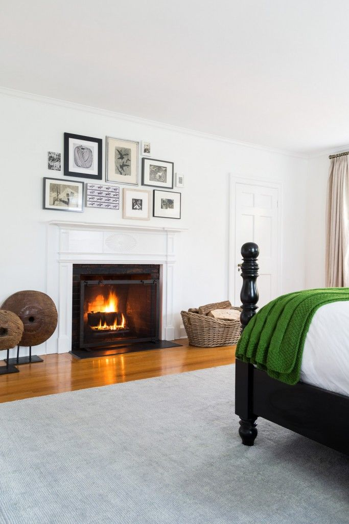 Love the way they did the prints above the fireplace. Simple. Elegant.   Design Crush: Chango & Co. - Elements of Style Blog