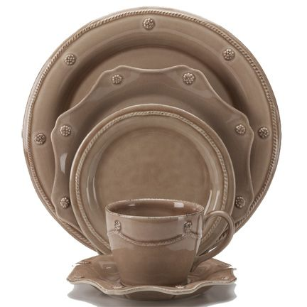 Berry and Thread Cappuccino Brown Dinnerware by Juliska | Gracious Style