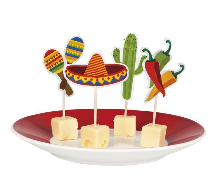 12 stuzzicadenti a tema messicano su VegaooParty, negozio di articoli per feste. Scopri il maggior catalogo di addobbi e decorazioni per feste del web,  sempre al miglior prezzo!