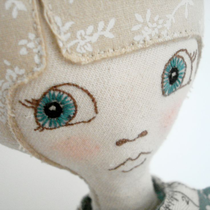 doll face - embroidered eyes, love.