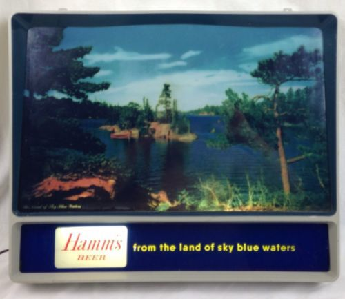 #Vintage hamms beer sign rippler tv motion water lake #scene #rippling water 1956,  View more on the LINK: 	http://www.zeppy.io/product/gb/2/232142395174/