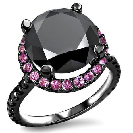 39 best Black Diamond Engagement Rings AND Ring Sets images on