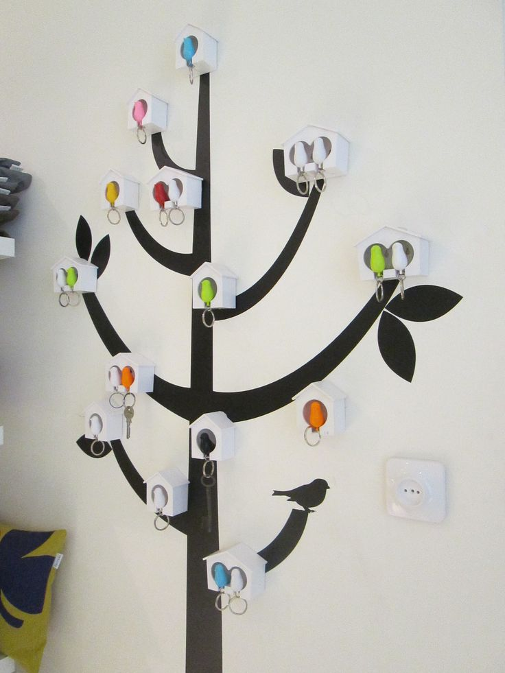 Clever wall decoration with lovely keyrings