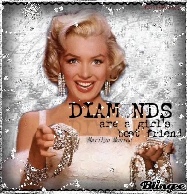 marilyn monroe pink diamonds duotes | Diamonds are a girl's best friend Marilyn Monroe's quote