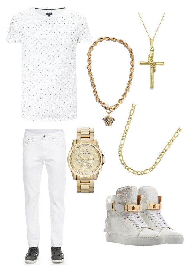 """""""HAKEEM OUTFIT"""" by nellyfirst ❤ liked on Polyvore featuring beauty, BUSCEMI, Armani Jeans, Vince, Allurez, Lord & Taylor and Armani Exchange"""