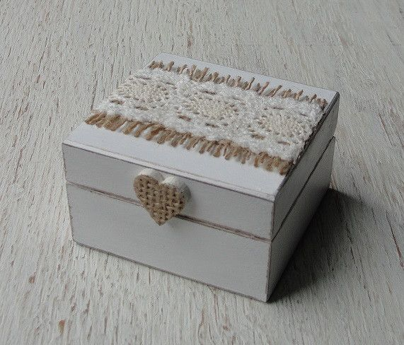 Ringkissen - Ringschachtel Holz. Personalisierbar ringschatulle - ein Designerstück von Decoupage-Margaret bei DaWanda