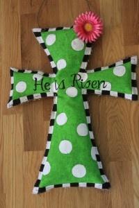 Just love this Burlap Cross