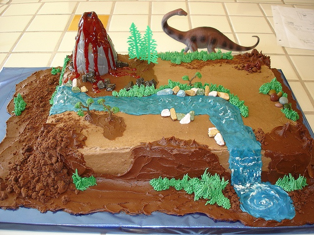 Dinosaur Birthday Cake by Barbara K. Balkin-Back Gate Studio, via Flickr