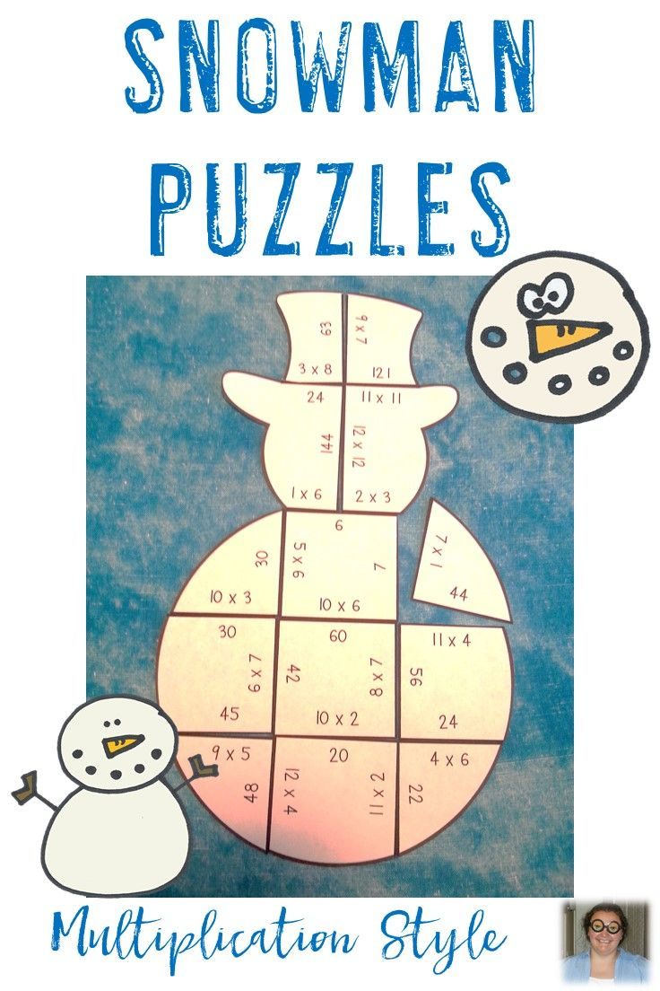 Do your students love snowmen? Use that love to your advantage by giving them snowman theme math centers! These are perfect for review or early & fast finishers in your 3rd or 4th grade classroom. And homeschool children will enjoy these! Basic multiplication fact practice will be challenging fun when you start using these three puzzles! Great for the December, January, and winter. Click through to get yours now! $ {third & fourth grade} FUN math centers!