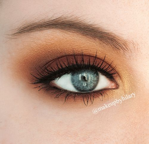 'Autumnal Eyes' Idea Gallery look by MakeupbyHilary using Makeup Geek's Bitten, Cocoa Bear, Gold Digger, Peach Smoothie, and Vanilla Bean eyeshadows.