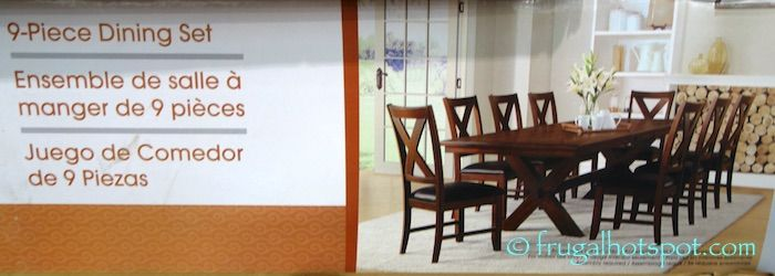 Costco Sale: Bayside Furnishings 9-Pc Dining Set $699.99 | Frugal Hotspot