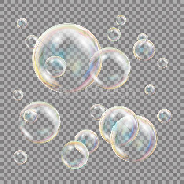 3d Soap Bubbles Transparent Vector Sphere Ball Water And Foam Design Isolated Illustration Stock Photo C Pikepicture 8505477 Desain Grafis Desain Grafis