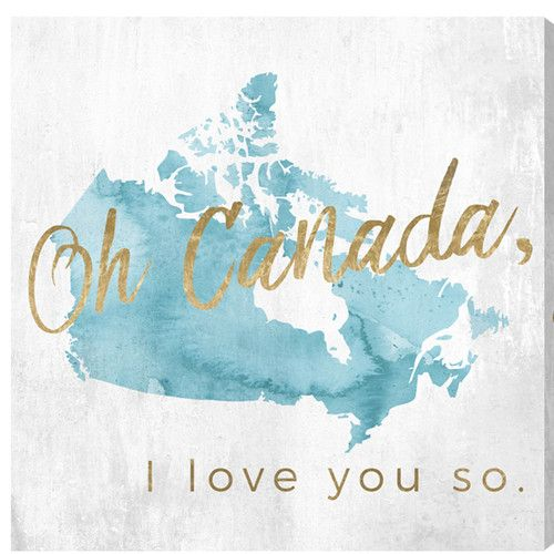 Found it at Wayfair.ca - Canadian Sayings 'Canada I Love You So' Textual Art on Wrapped Canvas