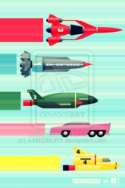 THUNDERBIRDS! by J-MEDBURY (print image)